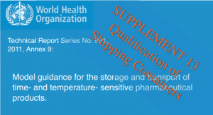 WHO Annex 9 Supplement 13 Qualification of Shipping Containers