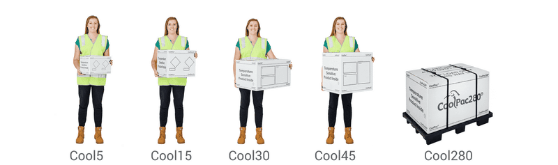 range of CoolPac Temperature Packing Systems